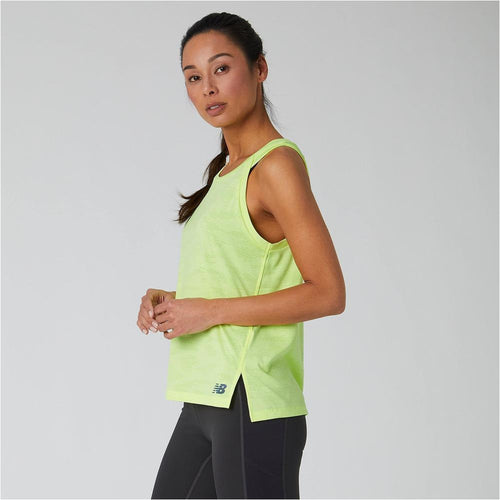 Womens Q Speed Jacquard Tank - Lemon Slush Heather