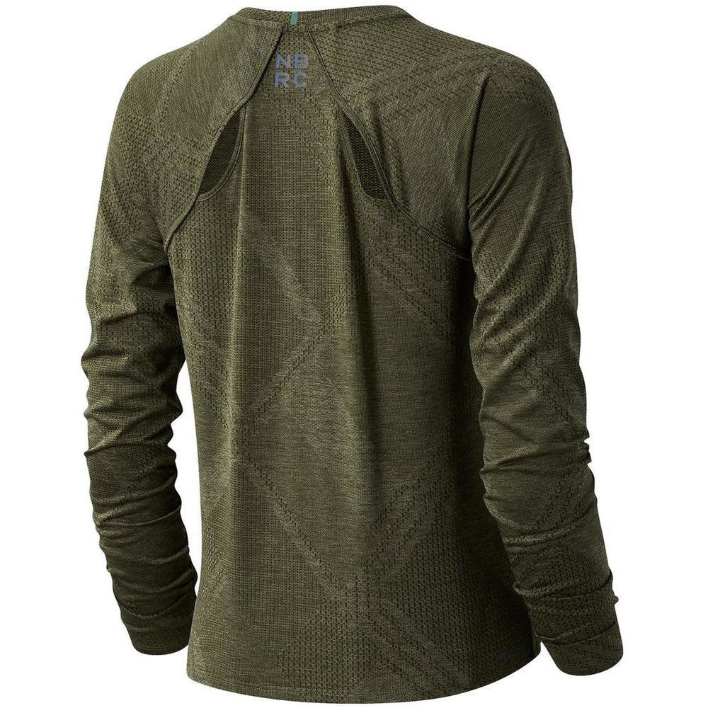 Womens Q Speed Fuel Jacquard Long Sleeve - Nettle Green