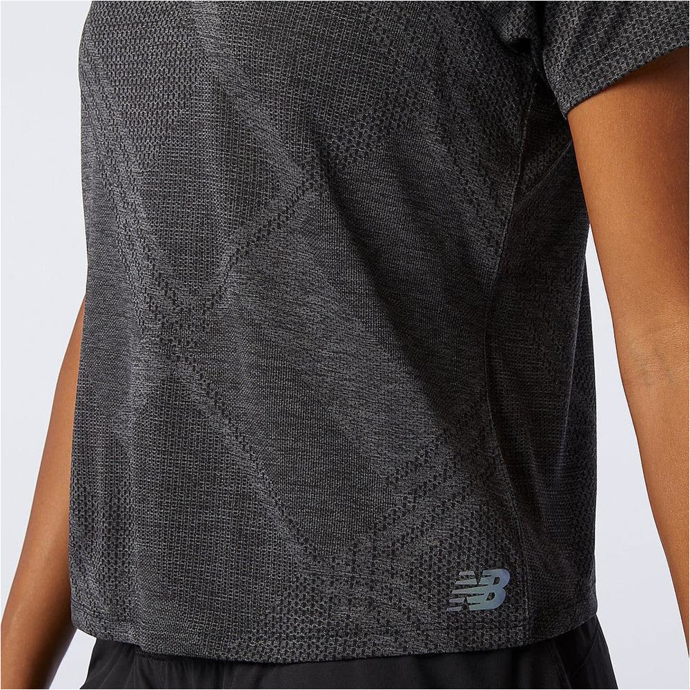 Womens Q Speed Fuel Jacquard Short Sleeve - Grey