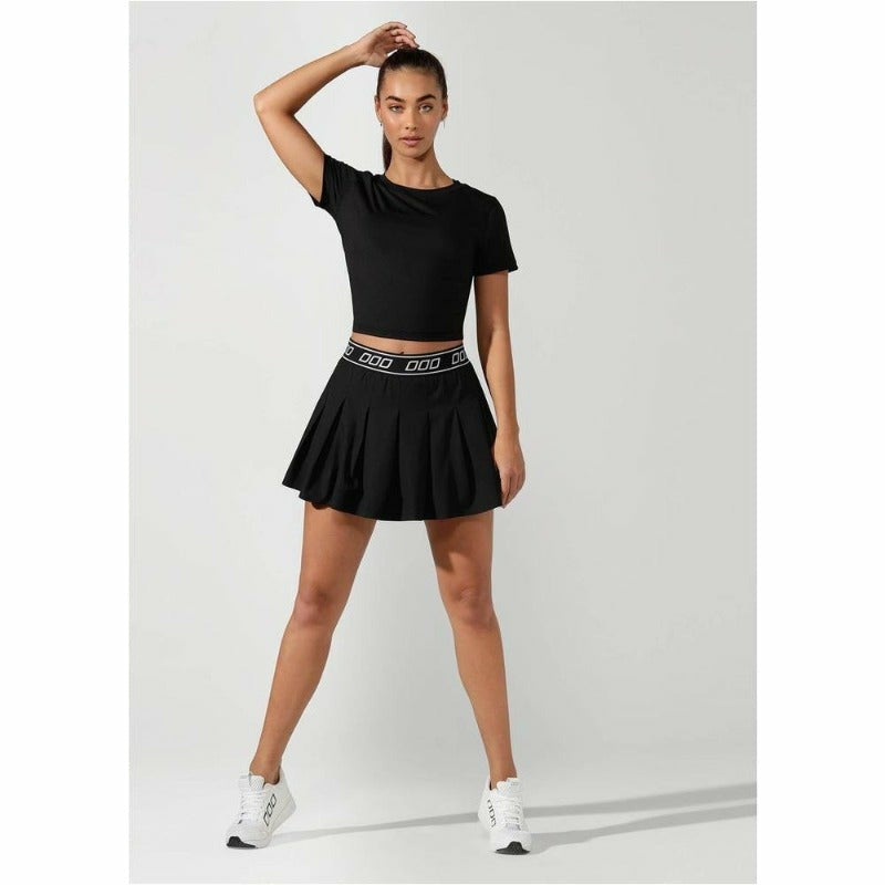 Breeze Cropped Active Tee - Black