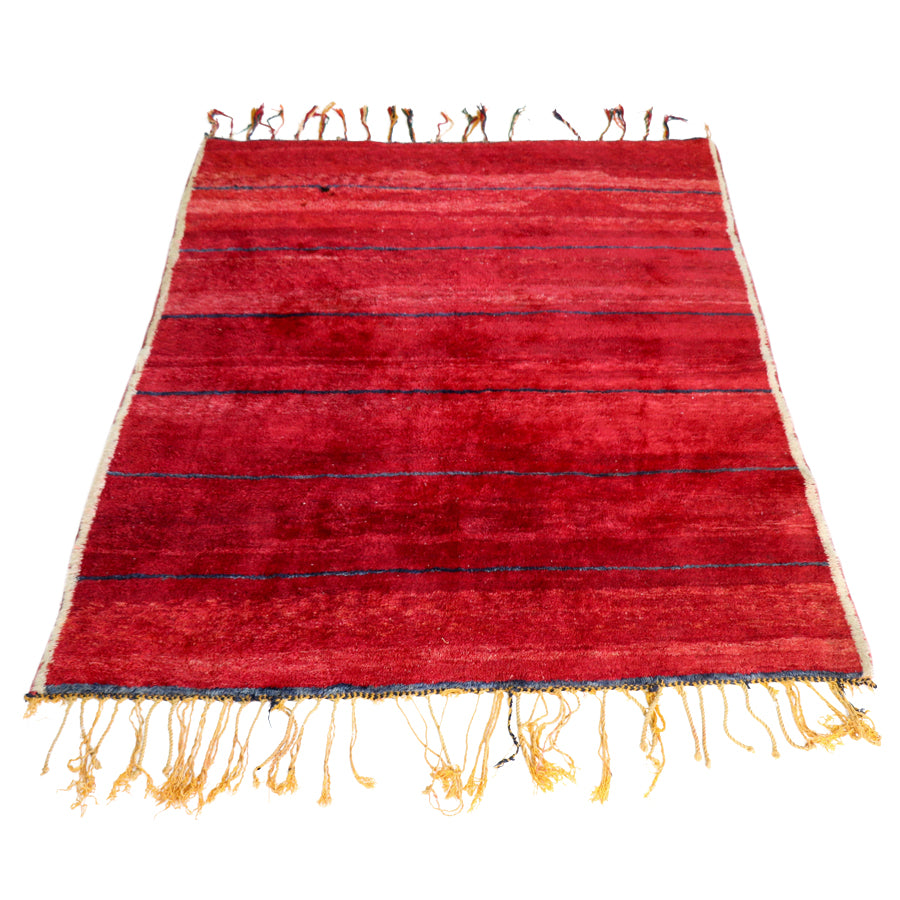 "Red Beni Ourain Rug- 70"" x 96"""