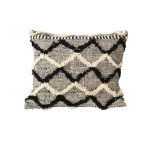 Black & white Beni Ourain Floor Pillow