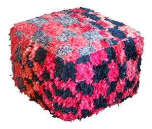 Black & Red Boucherouite Ottoman