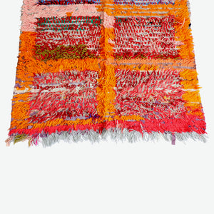 Boucherouite Orange Rug