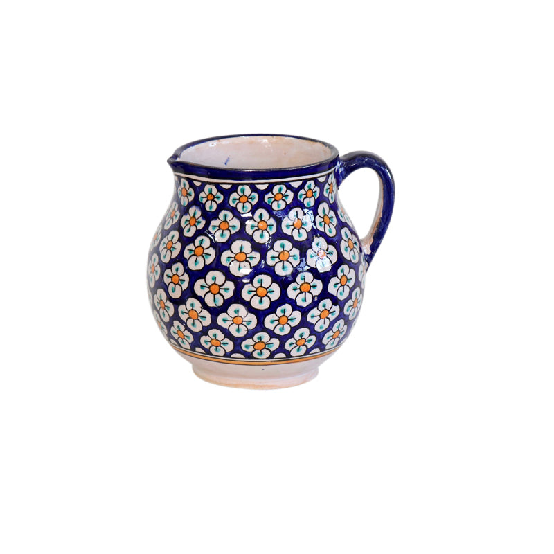 Moroccan Ceramic Pitcher