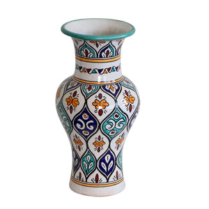 Moroccan Tall Ceramic Vase