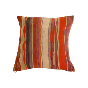 Vintage Moroccan Blanket Pillow
