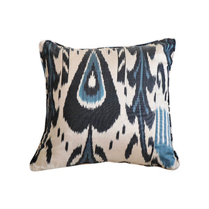Black & White Ikat Pillow