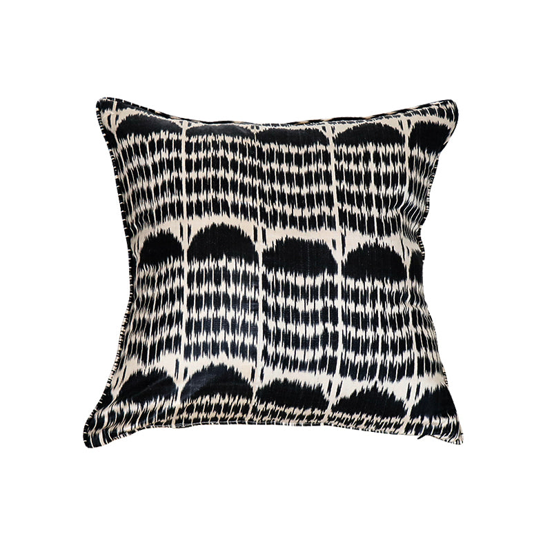 Black Boukhara Ikat Pillow