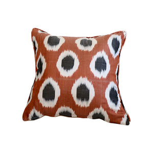 Brown Dot Ikat Pillow