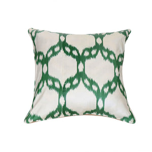 Green Mosaic Ikat Pillow