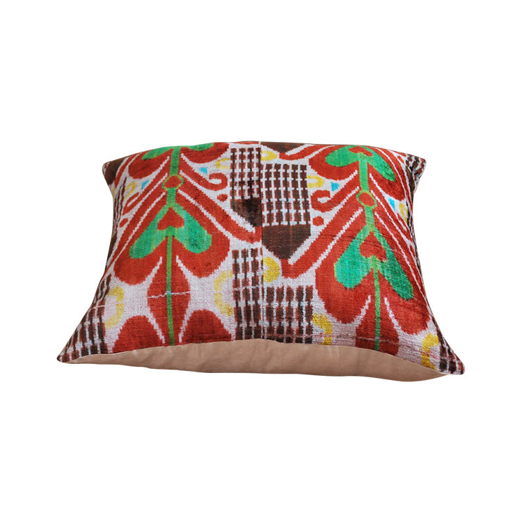 Ikat Velvet Floor Pillow
