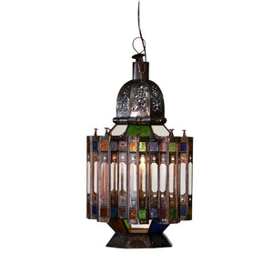 Moroccan Color Glass Metal Lamp