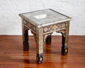 Moroccan Metal End Table