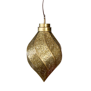 Moroccan Oval Brass Lamp