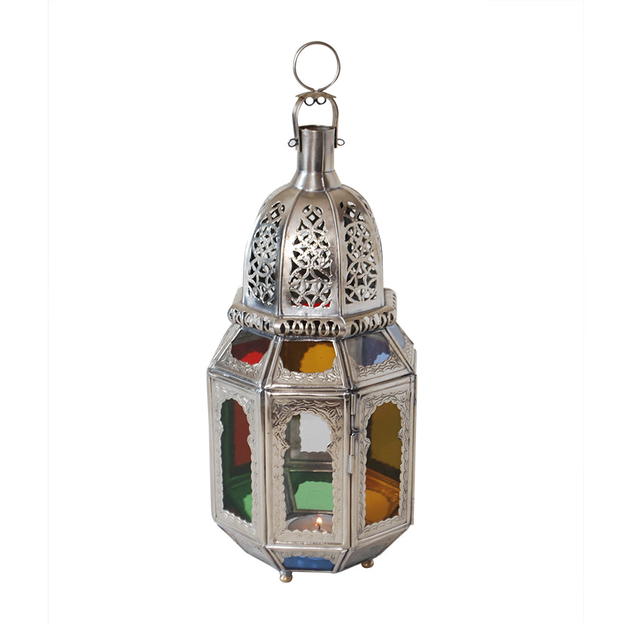 Moroccan Silver Table Lantern