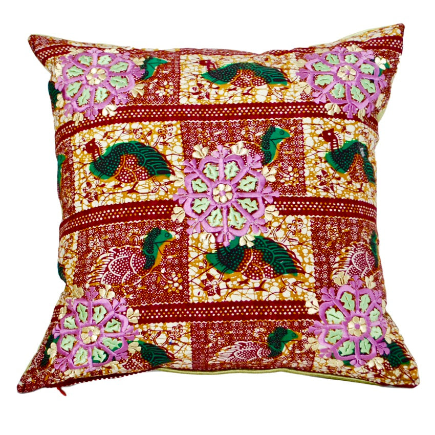 Rabati Embroidery Throw Pillow