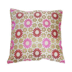 Moroccan Pink Mosaic Fabric Pillow