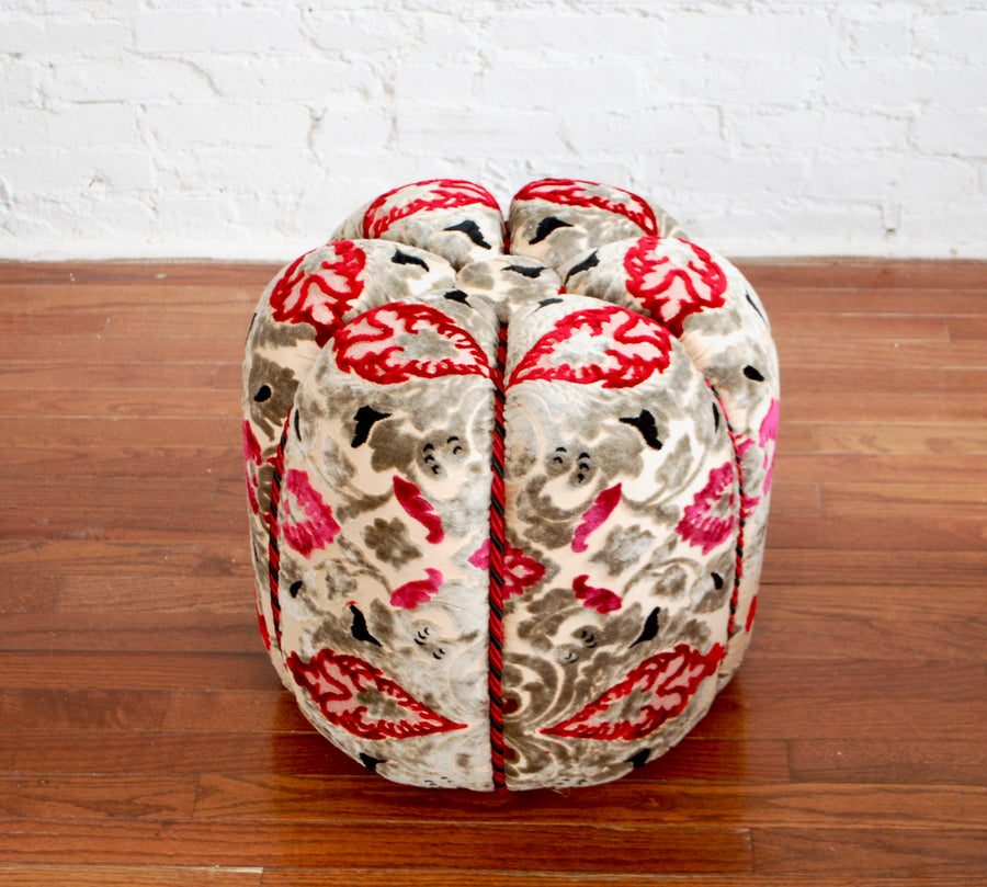 Moroccan  Fabric Pouf