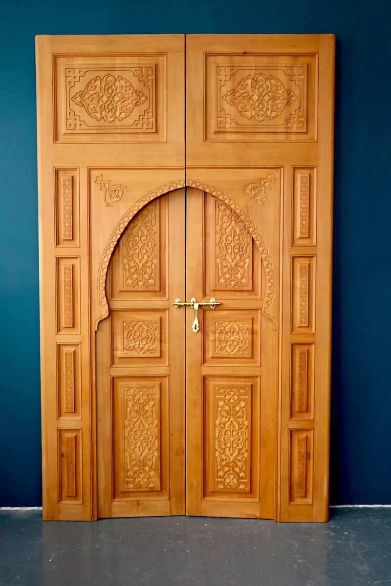 Moroccan Handcarved Wood Door