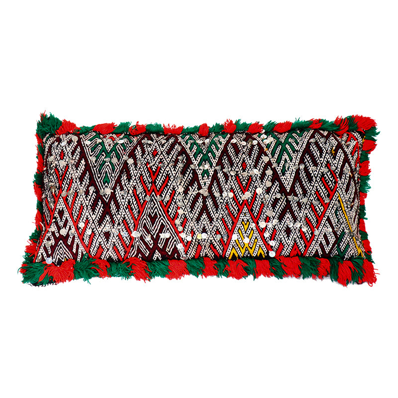 Moroccan Red & Green Berber Pillow
