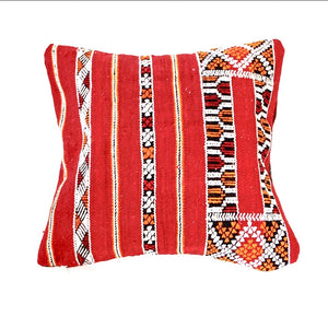 Red Berber Kilim Pillow