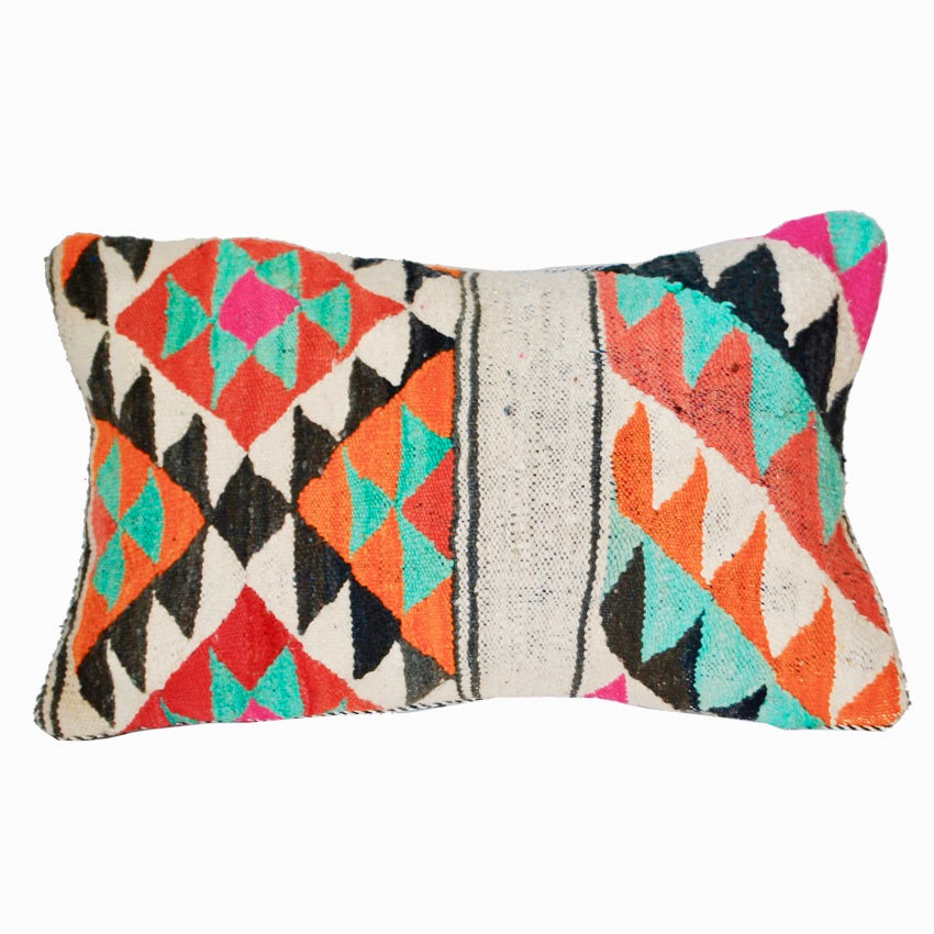 Moroccan Graphic Blanket Throw Pillow