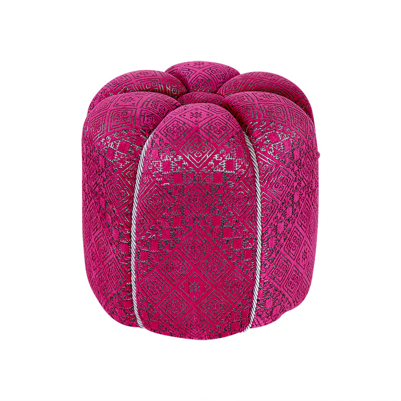 Moroccan Pink Fabric Pouf