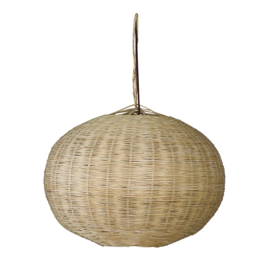 Moroccan Round Wicker Lamp