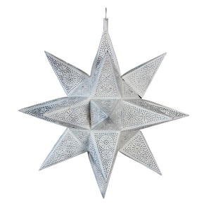 Moroccan Star White Lamp