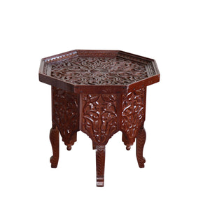 Moroccan Carved Wood Coffee Table