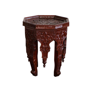 Moroccan Carved Cedar Wood Table