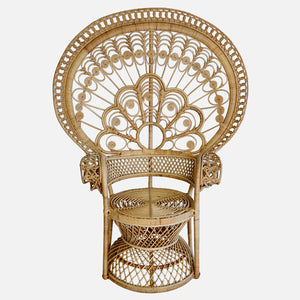 Peacock Wicker Chair