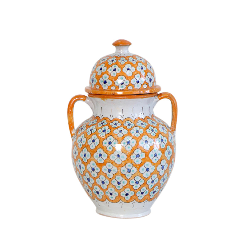 Moroccan Ceramic Ginger Jar- Yellow Vase