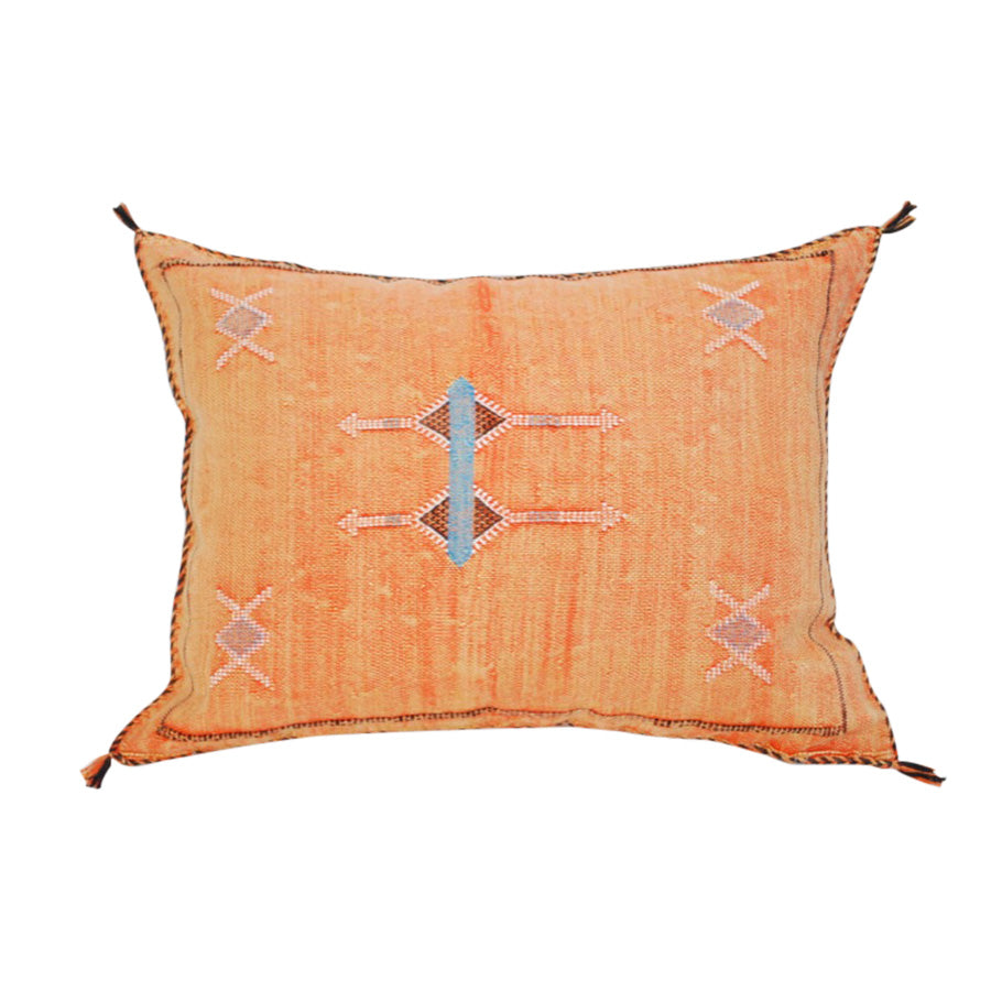Orange Sabra Throw Pillow