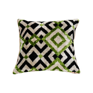 Mosaic Velevt Ikat Pillow