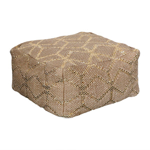 Gold & Jute Floor Pillow