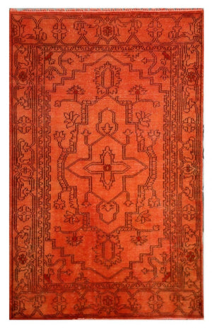 Orange Over-dyed Rug