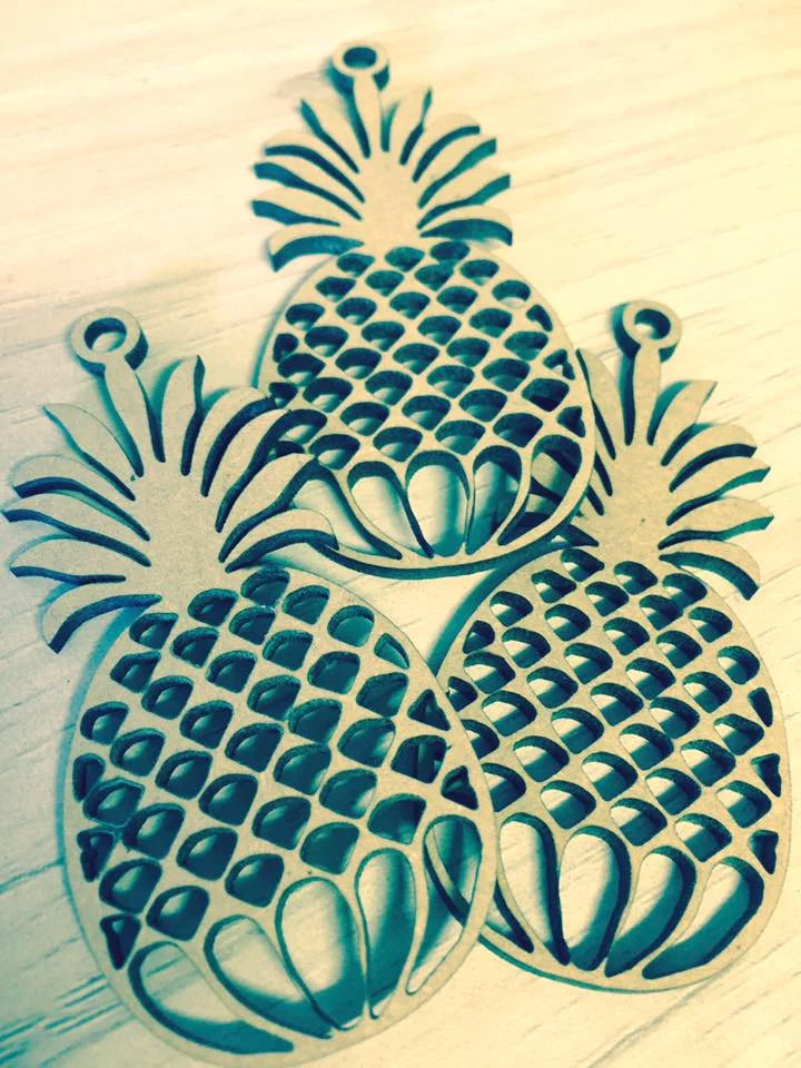 Pineapple Lasercut Keyring
