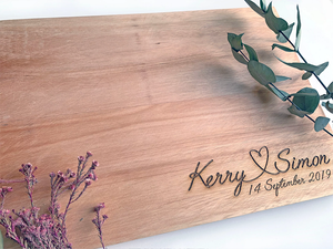 Wedding Engraved Cutting Board