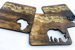 Africa Stained Coasters - Set of 3