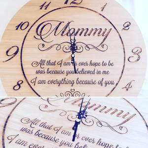 Mommy Engraved Clock