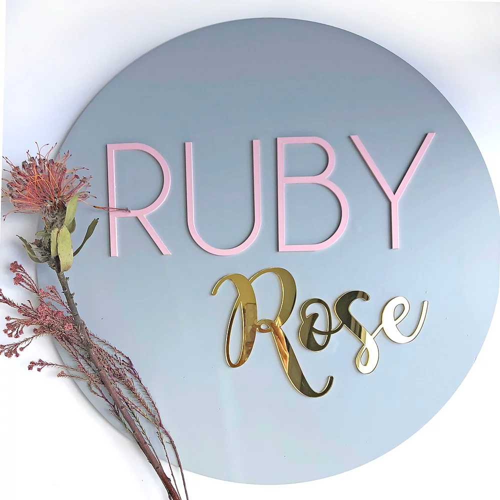 Name Plaque Decor