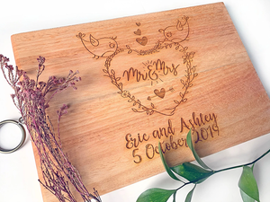 Mr & Mrs Cutting Board
