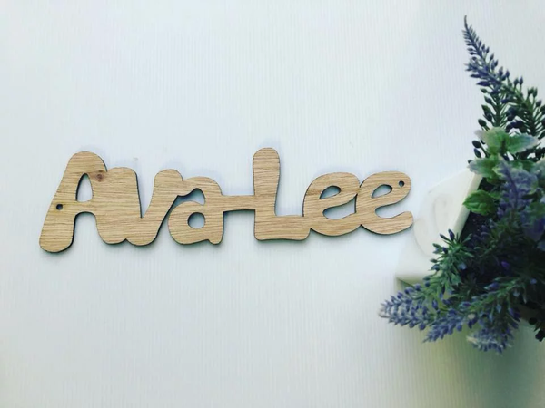 30cm wide Wooden Name