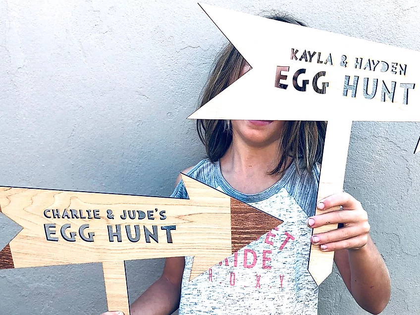 Easter Hunt Sign