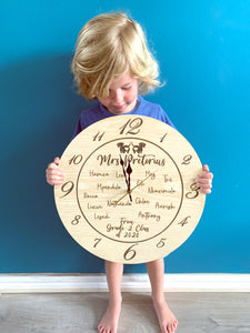 Teacher Engraved Clock