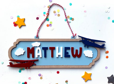 Aeroplane themed Door hanger