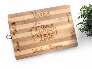 Family engraved cutting board