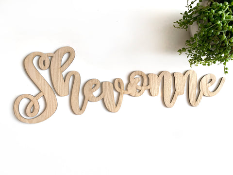 60cm wide Wooden Name